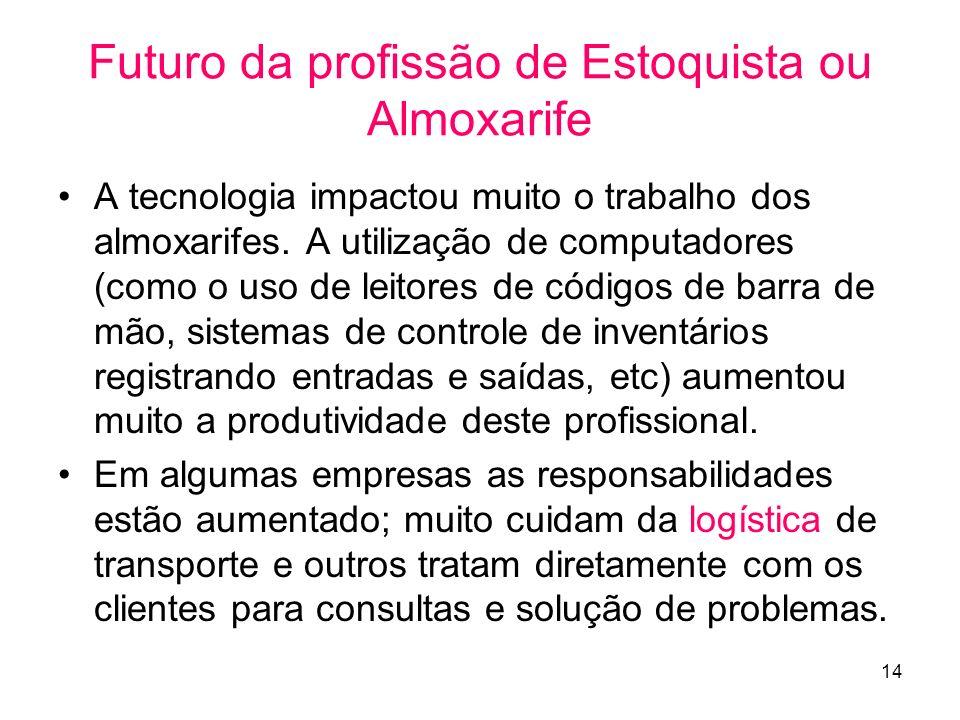 Futuro da profissão de Estoquista ou Almoxarife