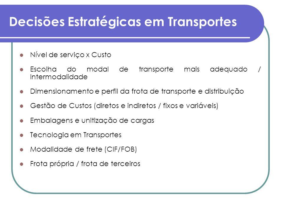 Decisões Estratégicas em Transportes