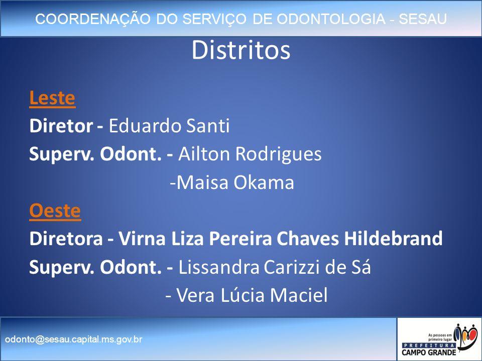 Distritos Leste Diretor - Eduardo Santi