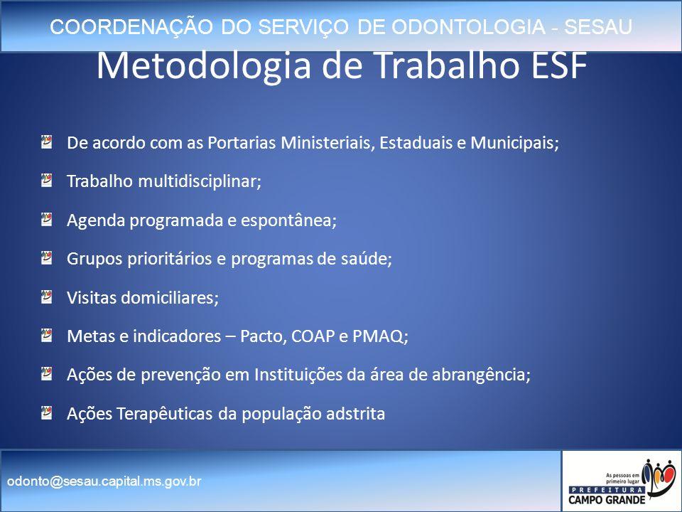 Metodologia de Trabalho ESF