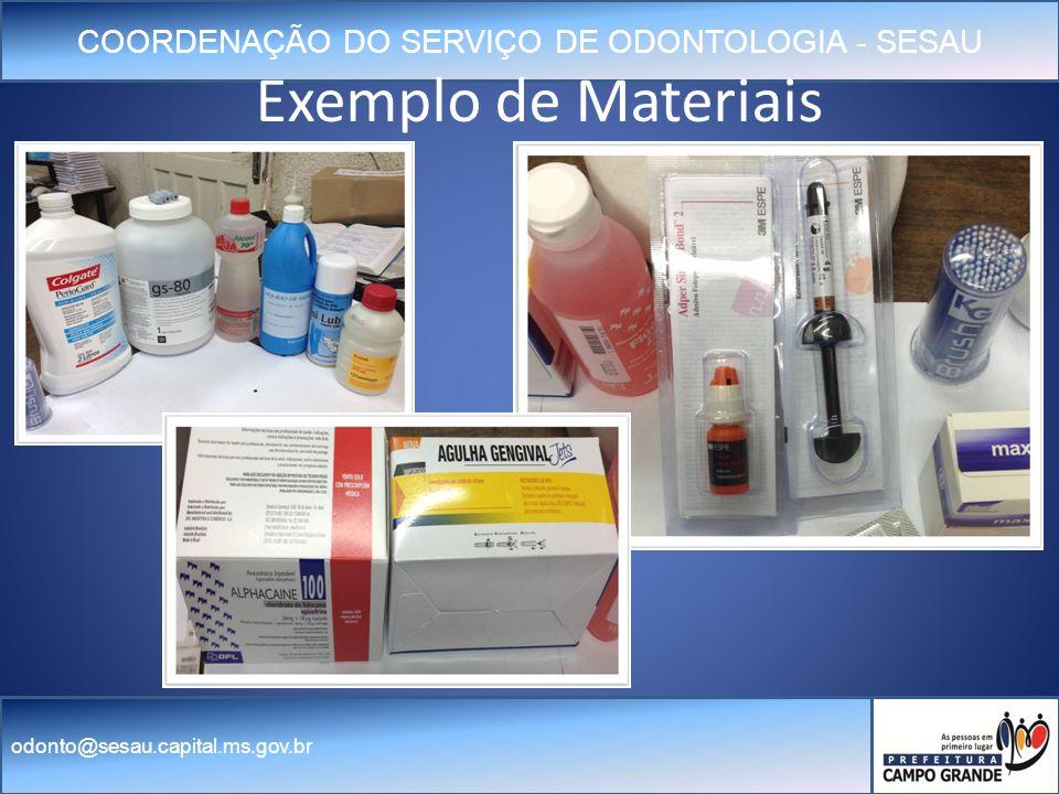 Exemplo de Materiais
