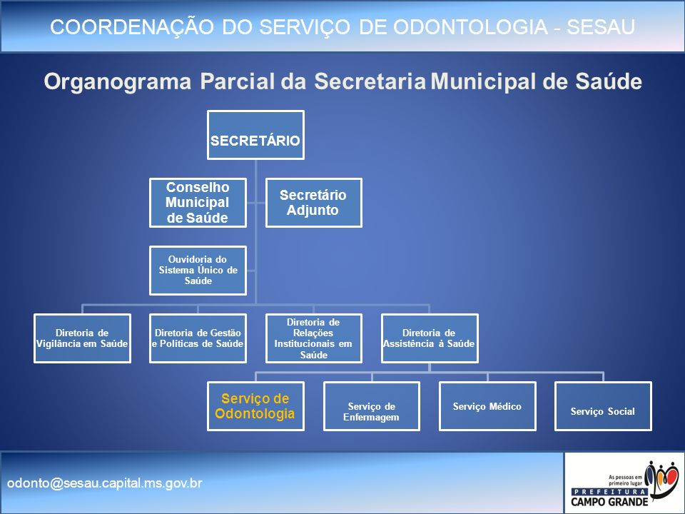 Organograma Parcial da Secretaria Municipal de Saúde