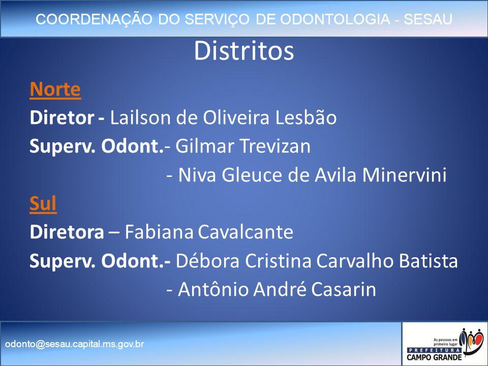 Distritos Norte Diretor - Lailson de Oliveira Lesbão