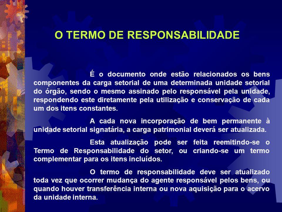 O TERMO DE RESPONSABILIDADE