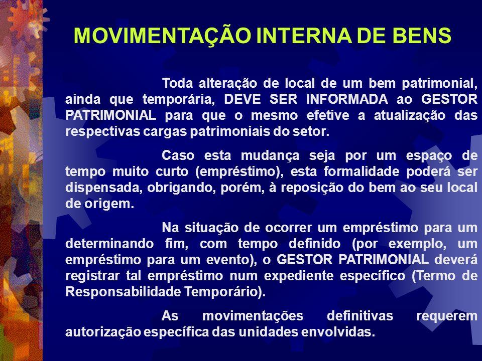 MOVIMENTAÇÃO INTERNA DE BENS