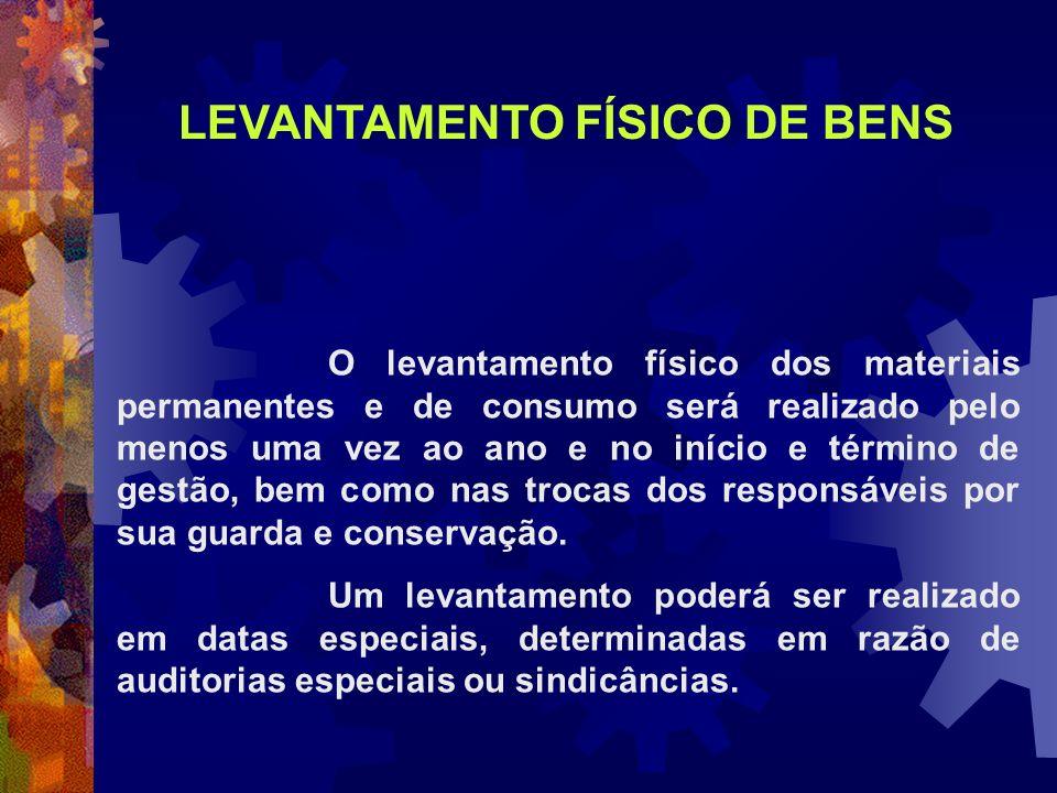 LEVANTAMENTO FÍSICO DE BENS