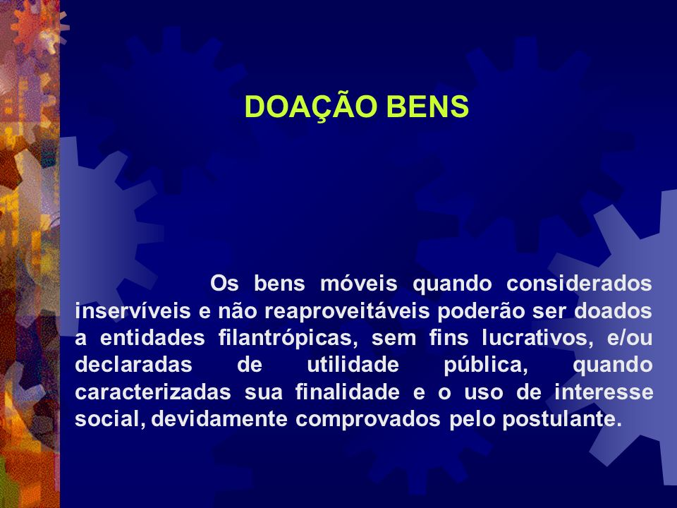 DOAÇÃO BENS