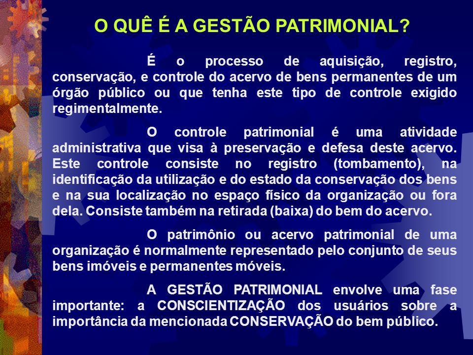 O QUÊ É A GESTÃO PATRIMONIAL