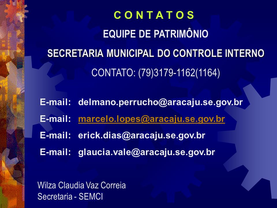 SECRETARIA MUNICIPAL DO CONTROLE INTERNO