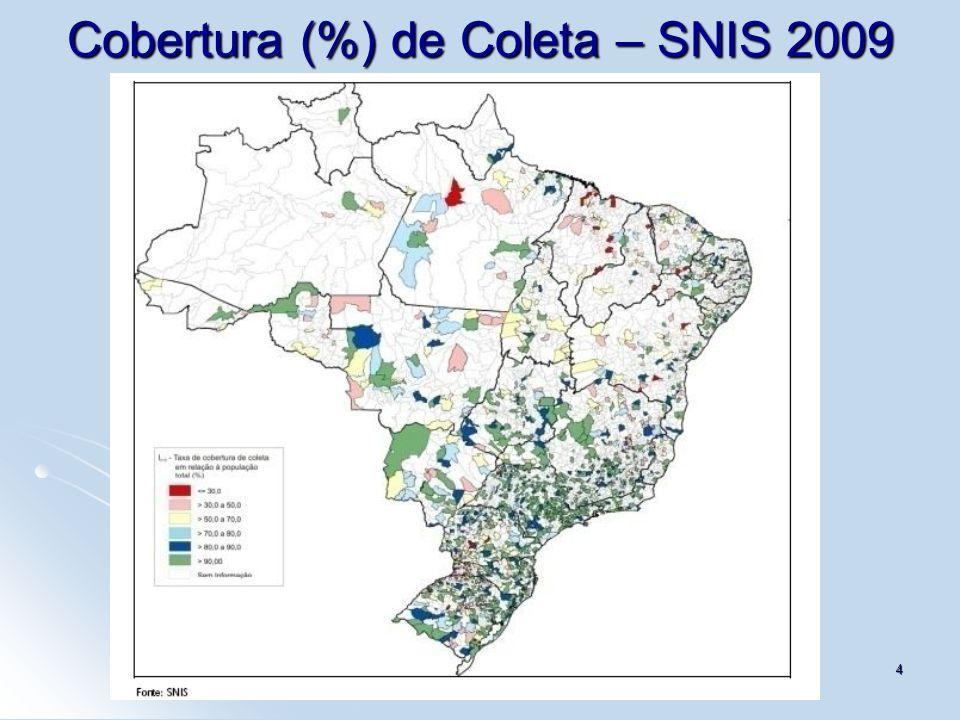 Cobertura (%) de Coleta – SNIS 2009