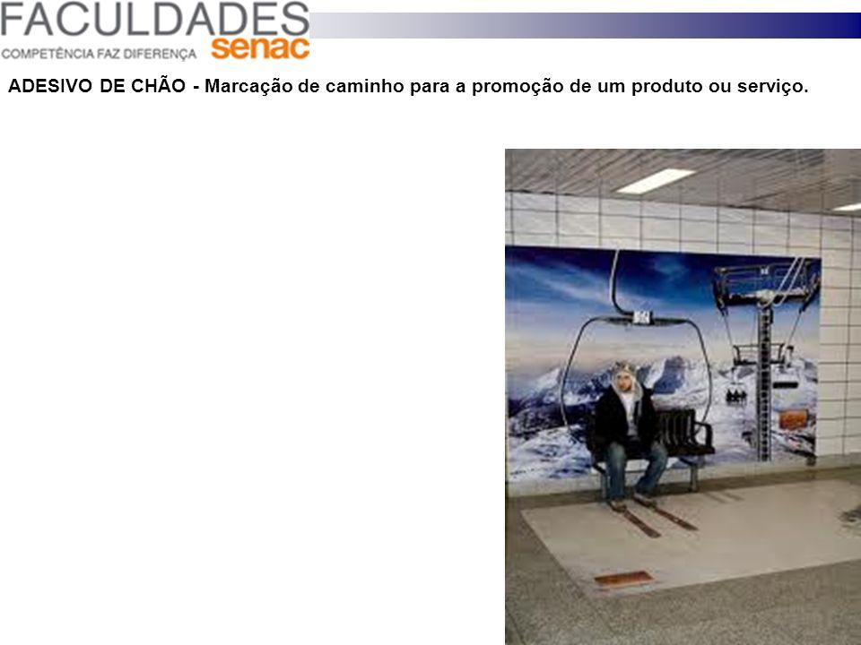ADESIVO DE CHÃO - Marcação de caminho para a promoção de um produto ou serviço.