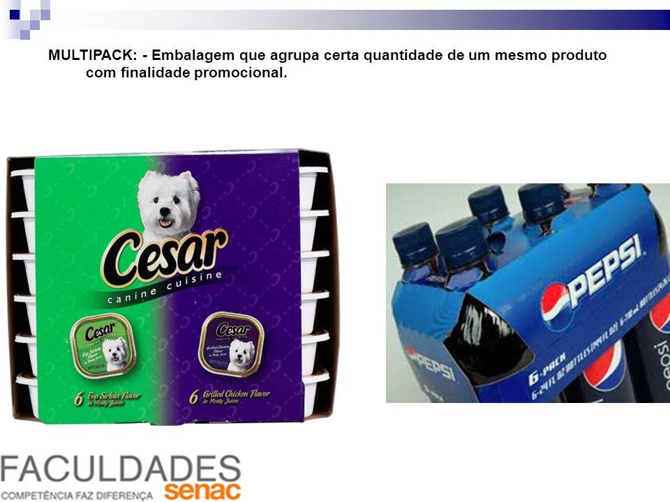 MULTIPACK: - Embalagem que agrupa certa quantidade de um mesmo produto