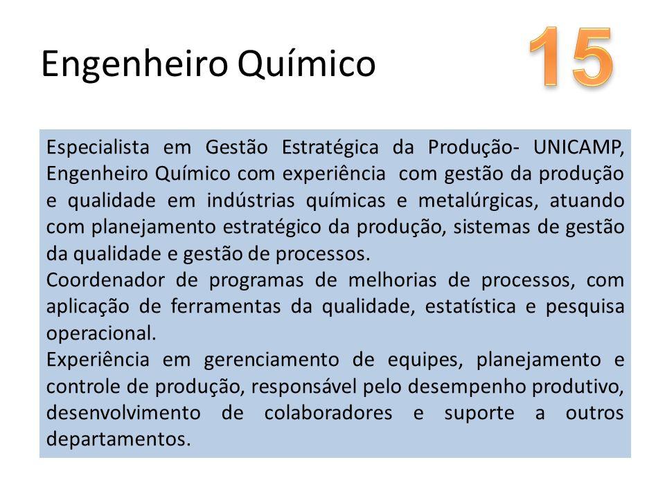 15 Engenheiro Químico.