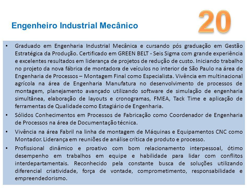20 Engenheiro Industrial Mecânico