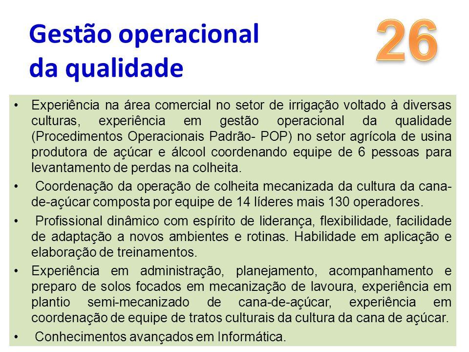 26 Gestão operacional da qualidade
