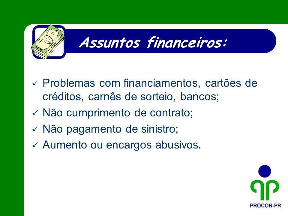 Assuntos financeiros: