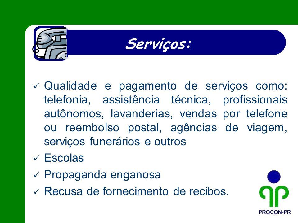 Serviços:
