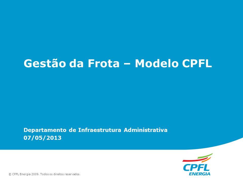 Gestão da Frota – Modelo CPFL