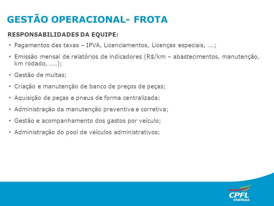GESTÃO OPERACIONAL- FROTA