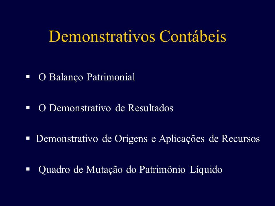 Demonstrativos Contábeis