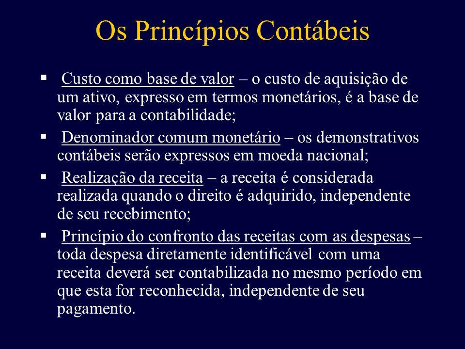 Os Princípios Contábeis
