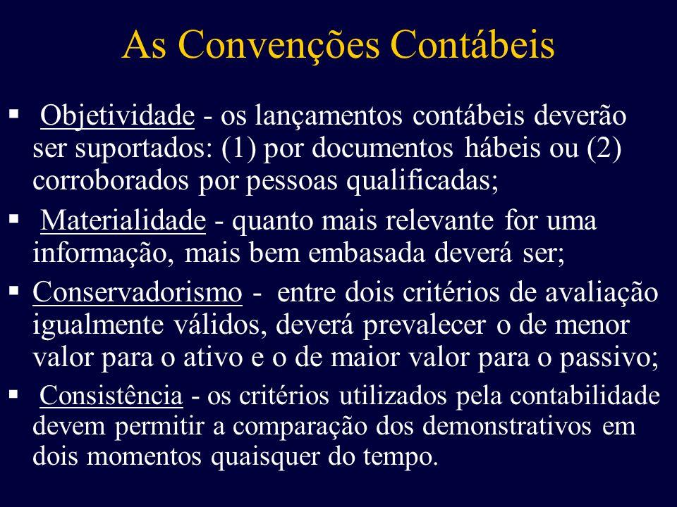 As Convenções Contábeis