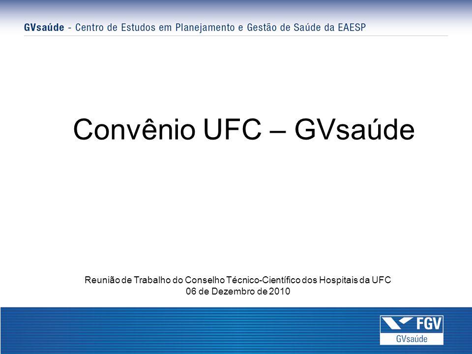 Convênio UFC – GVsaúde Reunião de Trabalho do Conselho Técnico-Científico dos Hospitais da UFC.