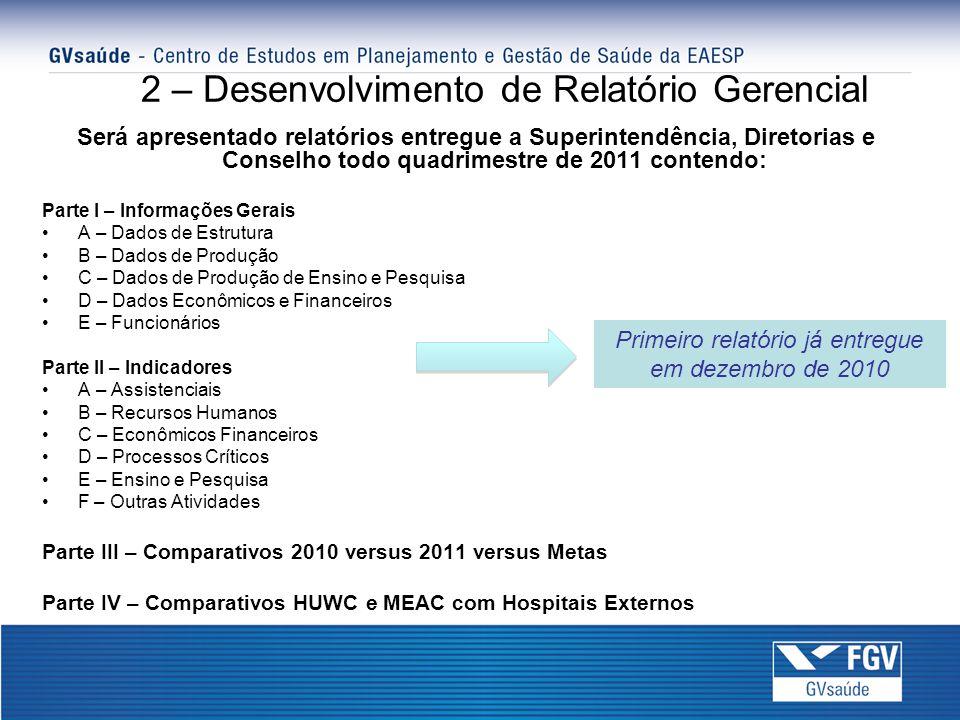 2 – Desenvolvimento de Relatório Gerencial