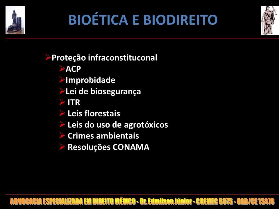 BIOÉTICA E BIODIREITO Proteção infraconstituconal ACP Improbidade