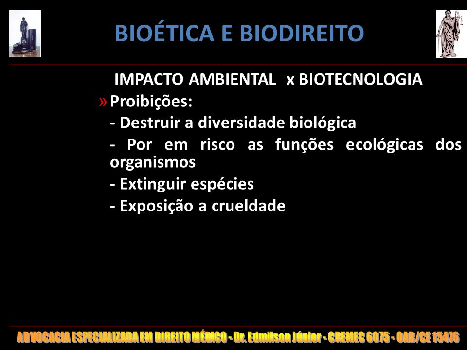IMPACTO AMBIENTAL x BIOTECNOLOGIA