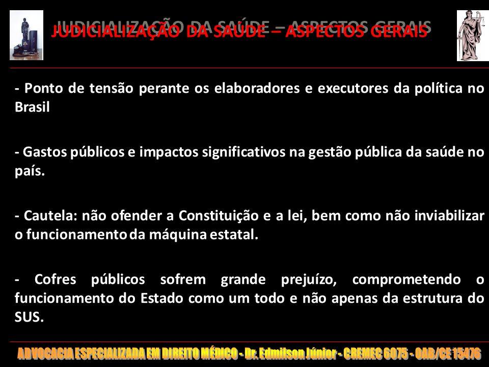 JUDICIALIZAÇÃO DA SAÚDE – ASPECTOS GERAIS