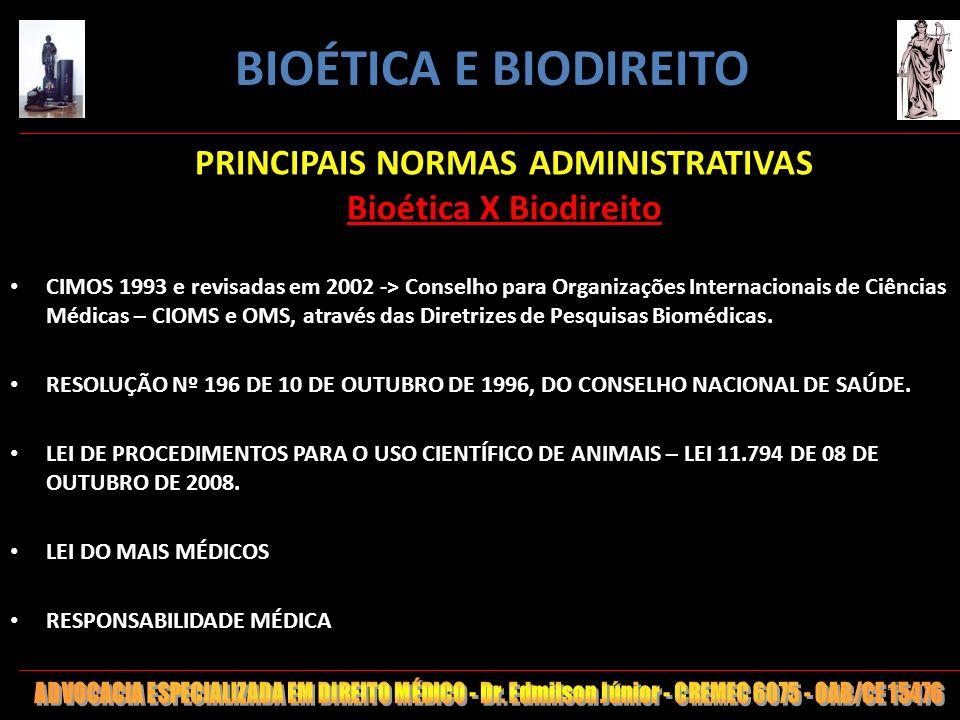 PRINCIPAIS NORMAS ADMINISTRATIVAS