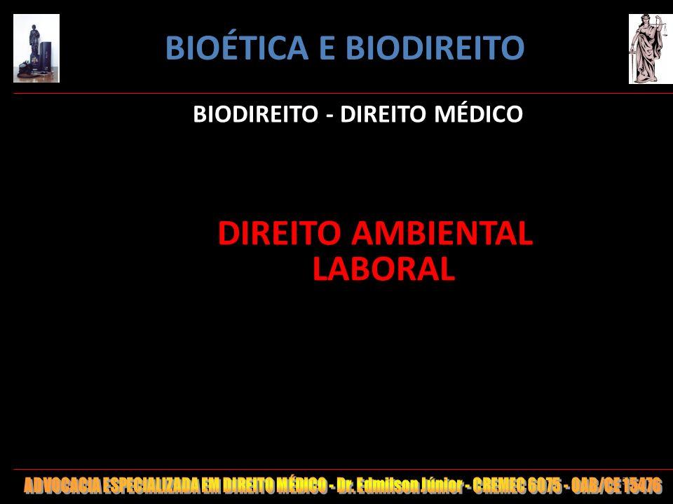 BIODIREITO - DIREITO MÉDICO DIREITO AMBIENTAL LABORAL