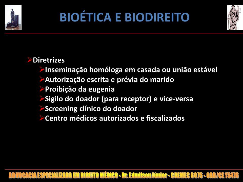 BIOÉTICA E BIODIREITO Diretrizes