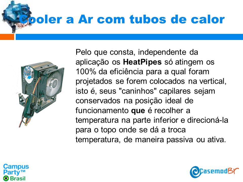 Cooler a Ar com tubos de calor