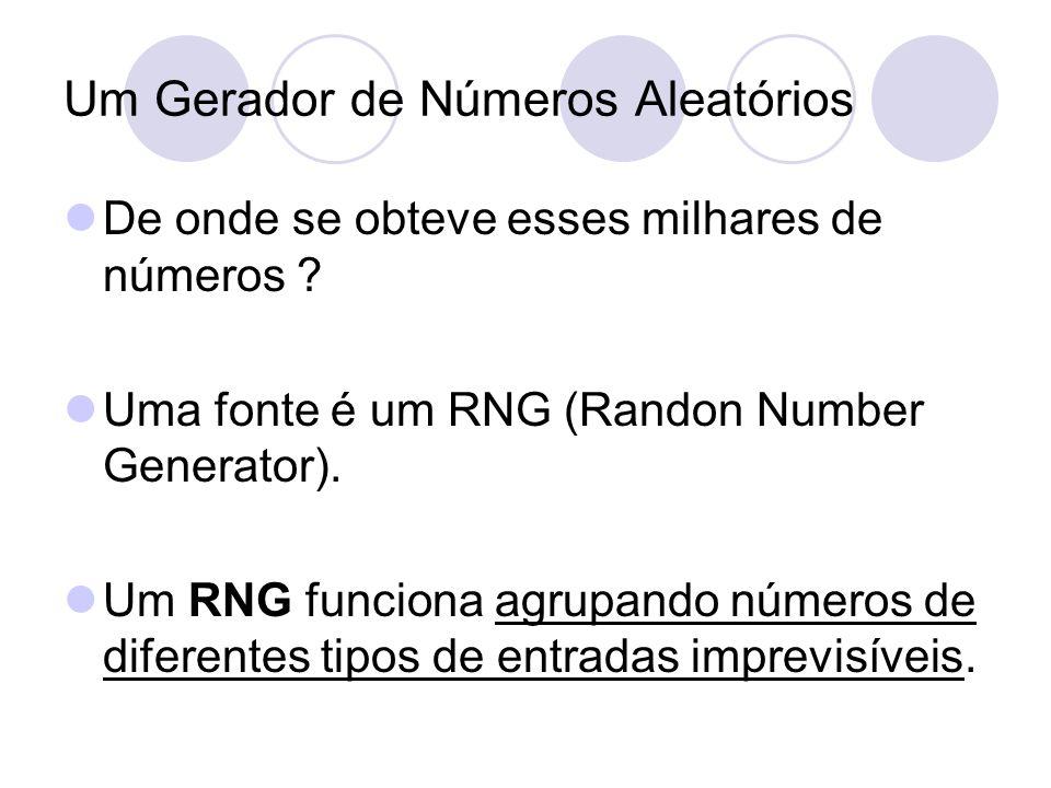 Um Gerador de Números Aleatórios