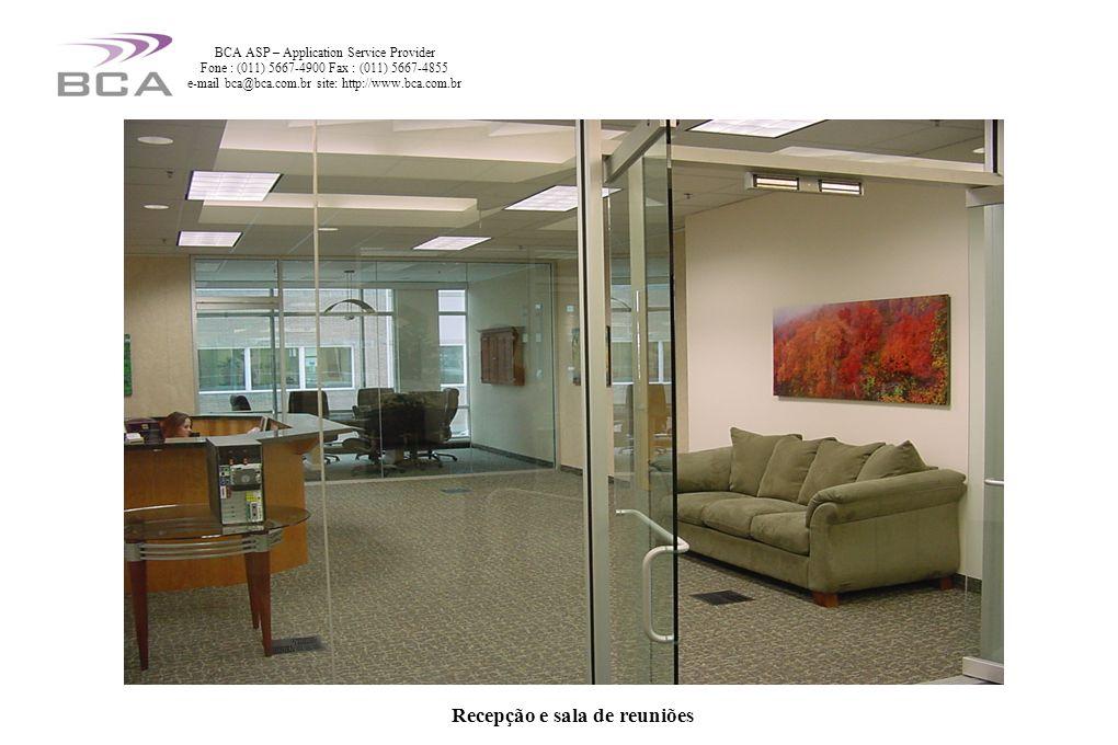 Recepção e sala de reuniões