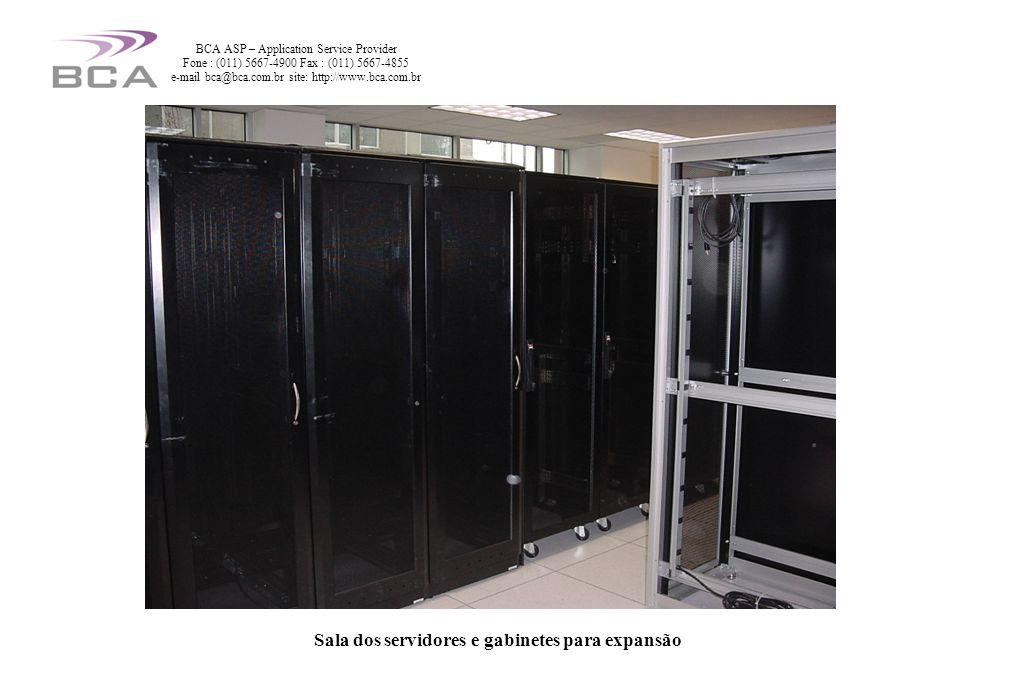 Sala dos servidores e gabinetes para expansão