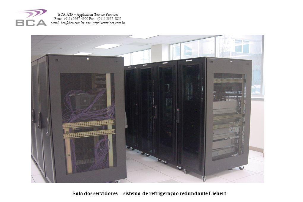 Sala dos servidores – sistema de refrigeração redundante Liebert