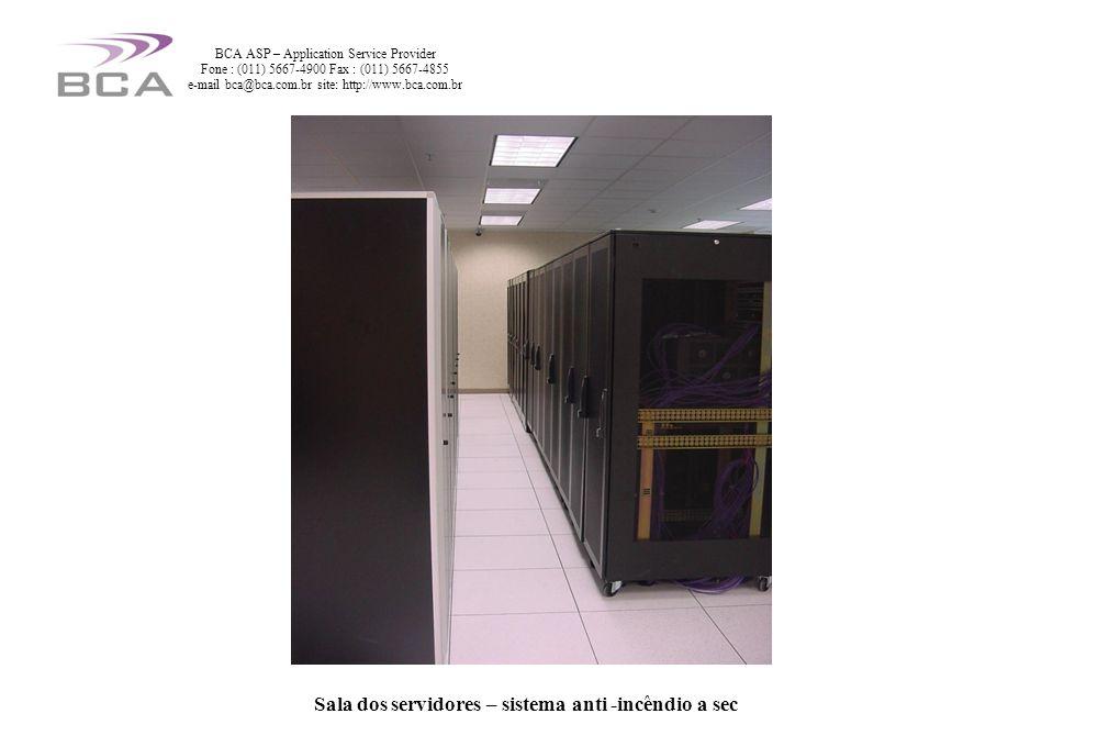 Sala dos servidores – sistema anti -incêndio a seco