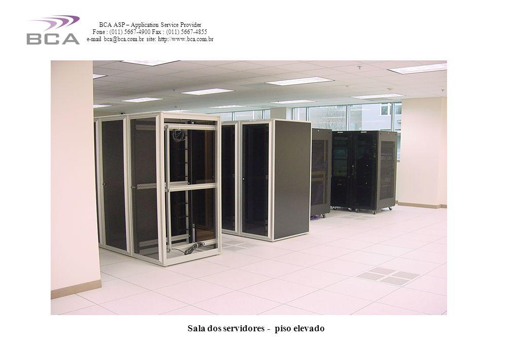 Sala dos servidores - piso elevado