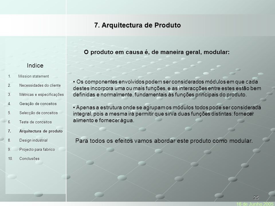 7. Arquitectura de Produto