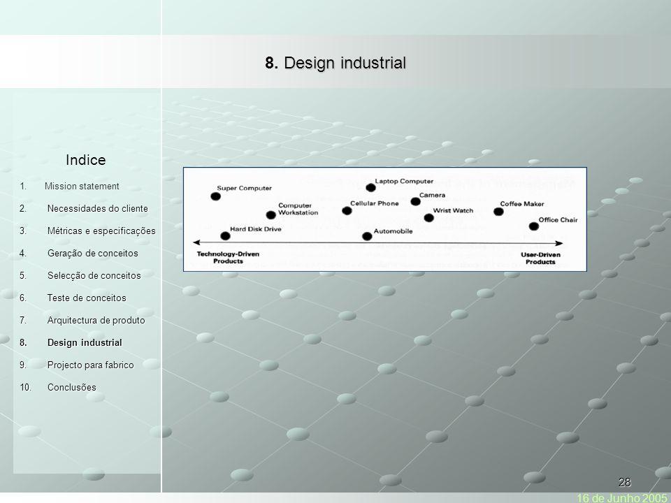 8. Design industrial Indice 16 de Junho 2005 Mission statement