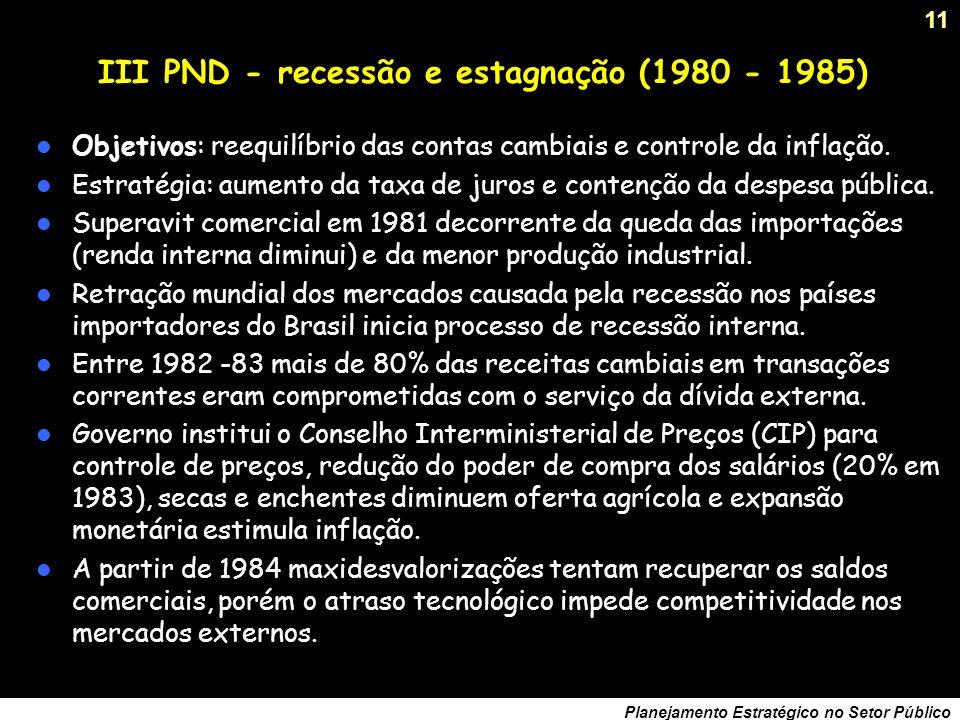 III PND - recessão e estagnação (1980 - 1985)
