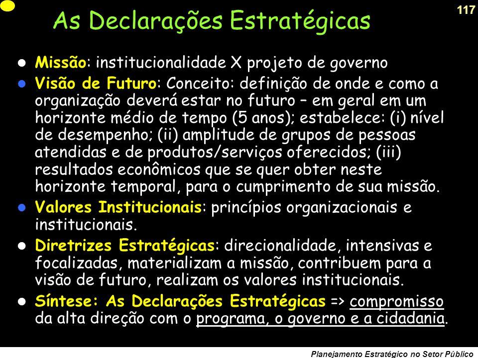 As Declarações Estratégicas