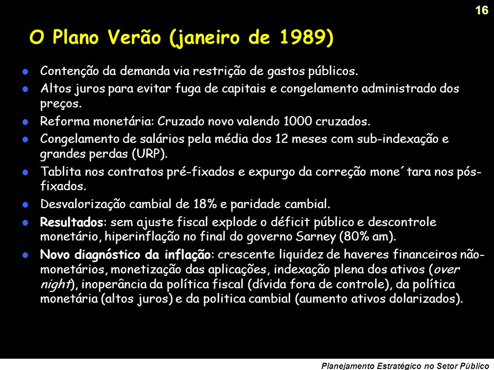 O Plano Verão (janeiro de 1989)
