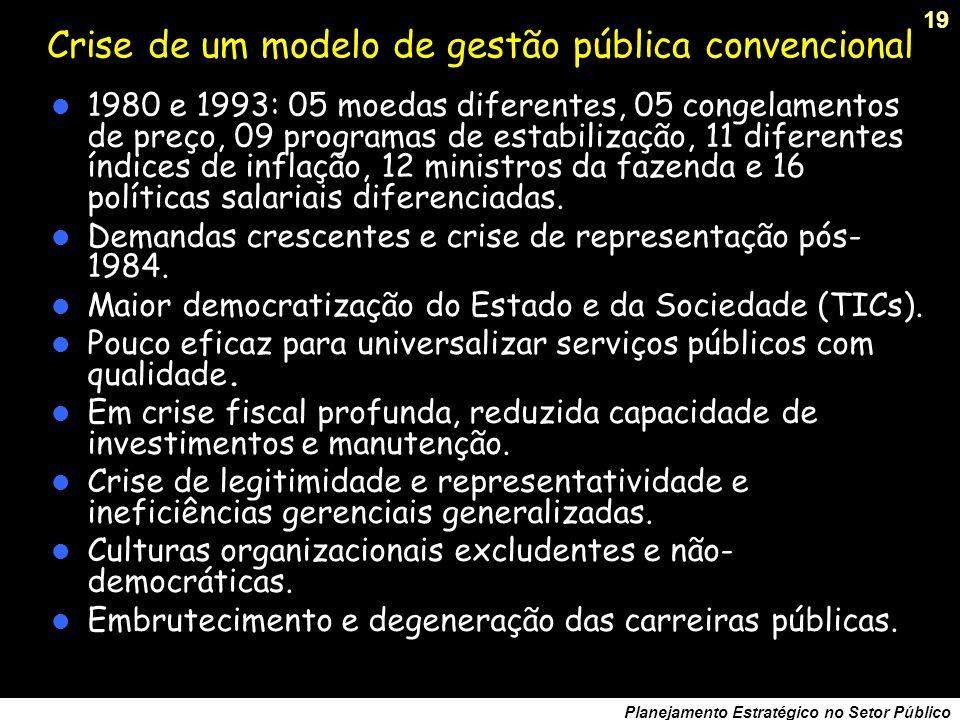 Crise de um modelo de gestão pública convencional