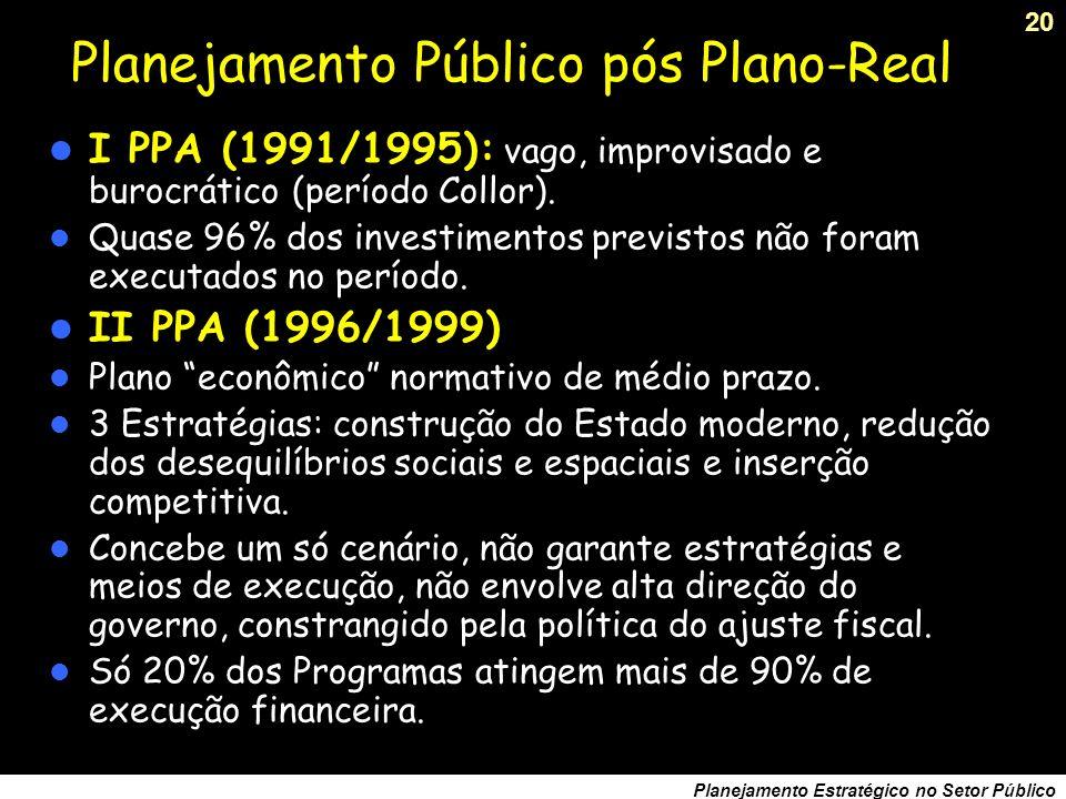 Planejamento Público pós Plano-Real