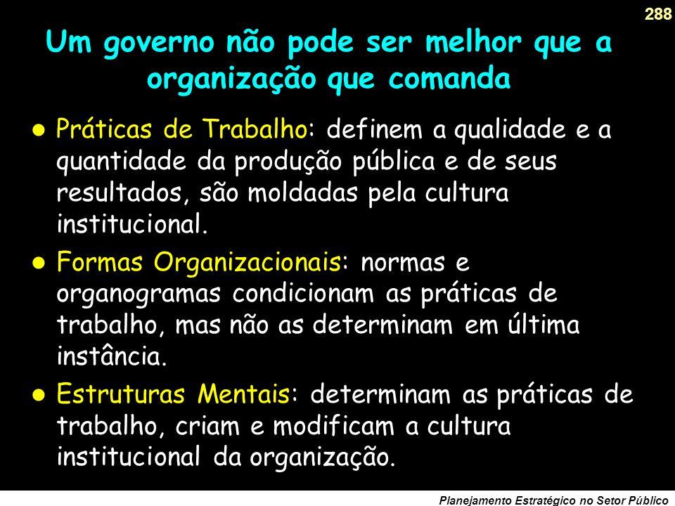 Um governo não pode ser melhor que a organização que comanda