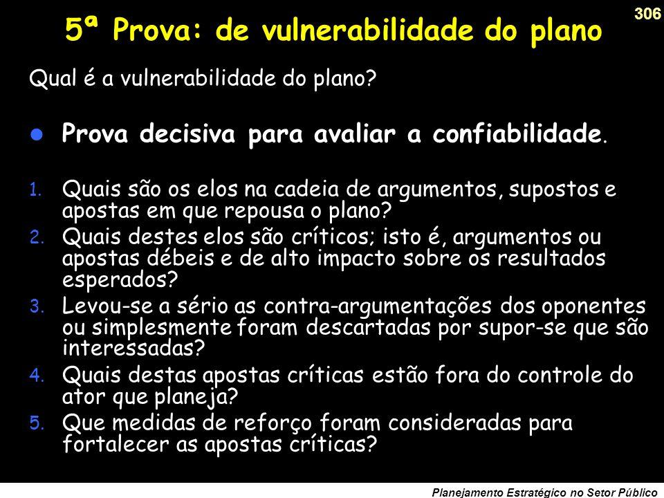 5ª Prova: de vulnerabilidade do plano
